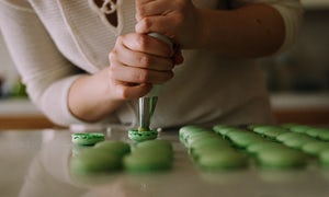 French macarons bakery class at Galeries Lafayette