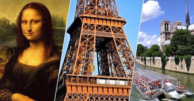 Visite guidée de Paris : Tour Eiffel, Louvre, Notre-Dame et Croisière sur la Seine